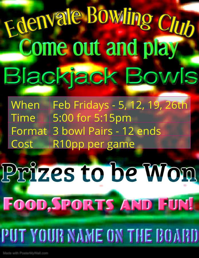 Edenvale Bowling Club Blackjack Bowls