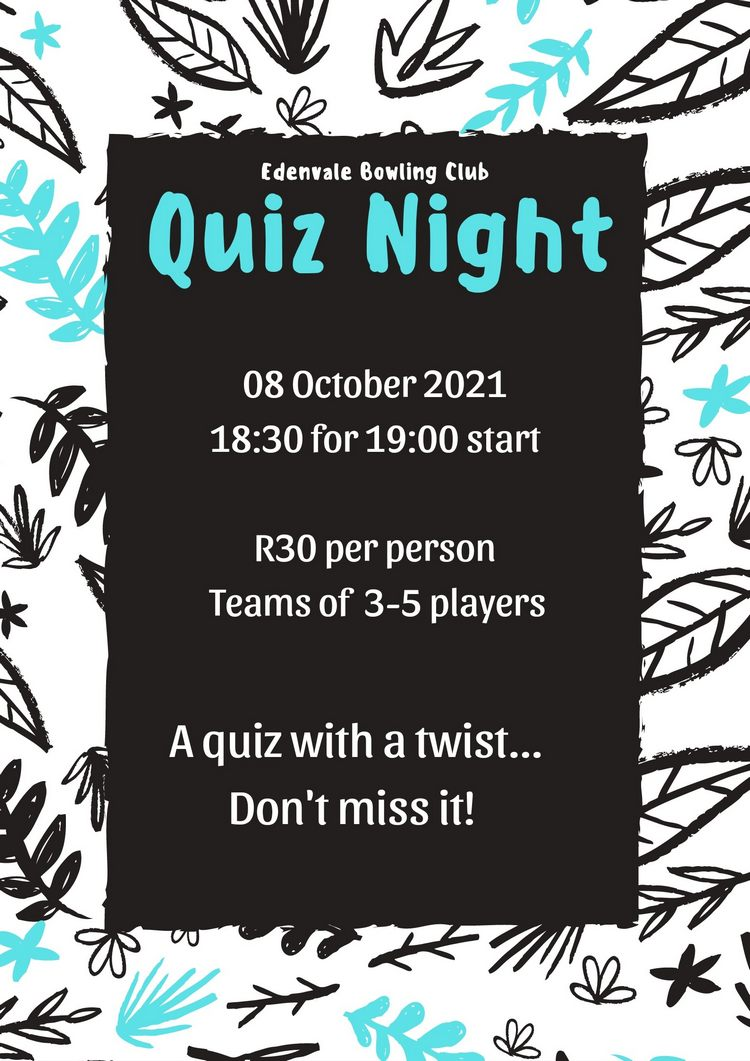 Quiz Night 8 Oct 2021